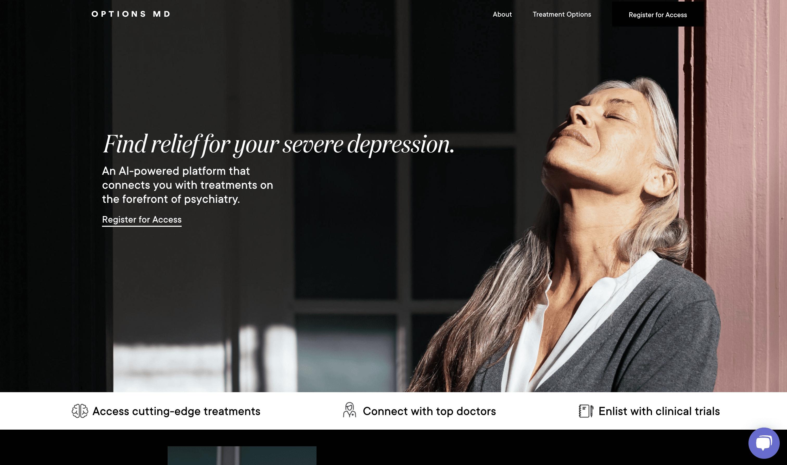 website case study screen shot
